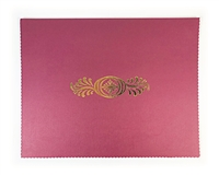 Goes Litho Certificate Holder Burgundy Foil Stamp