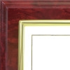 "D13 Deluxe Series Plaque - Burgundy Marble (8"" x 10"")"