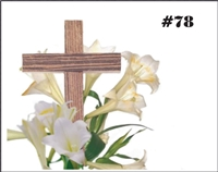Falls 78  Enclosure Card - Lilies and Cross
