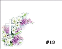 Falls 13  Enclosure Card - Cross With Lilies