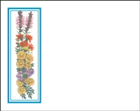 Falls 622 Enclosure Card - Assorted Flowers with Blue Border