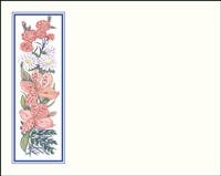 Falls 623 Enclosure Card - Assorted Flowers with a Blue Border