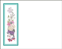 Falls 624 Enclosure Card - Assorted Flowers with a Green Border