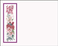 Falls 625 Enclosure Card - Assorted Flowers with a Violet Border