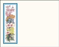 Falls 626 Enclosure Card - Assorted Flowers with a Blue Border