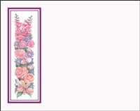 Falls 628 Enclosure Card - Assorted Flowers with a Purple Border