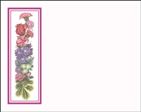 Falls 629 Enclosure Card - Assorted Flowers with a Red Border