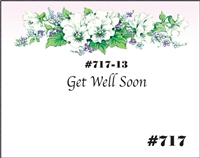 Falls 717 Enclosure Card - Purple and White Flowers with Holly