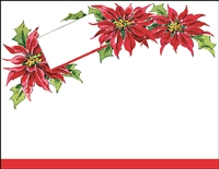 Falls 806  Enclosure Card - Red Flowers and Holly