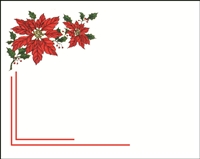 Falls 824  Enclosure Card - Poinsettia