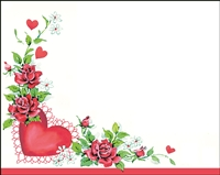 Falls 828  Enclosure Card - Red Roses with a Heart