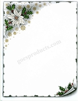 White Poinsettia with Scroll