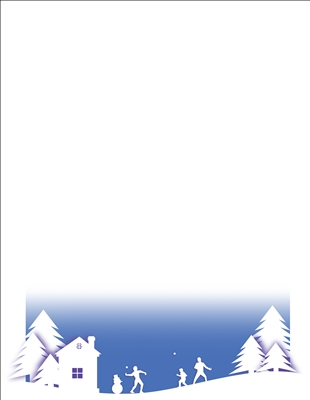 #2438 Letterhead - Snowball Fight