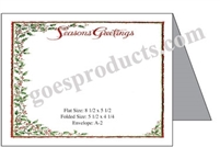 Seasons Greetings with Holly Baronial Card
