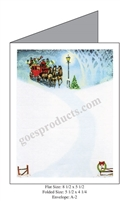 Sleigh Ride Snowy Night Baronial Card