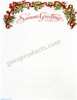 Seasons Greetings - Holly & Ribbon