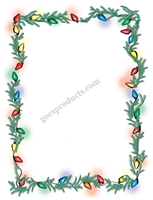 Christmas Lights with Garland