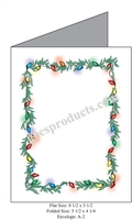 Christmas Lights with Garland Baronial Card