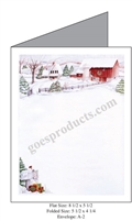 Snowy Farm Baronial Card