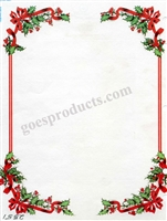 Ribbon and Holly Border
