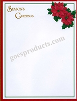 Seasons Greetings - Poinsettias