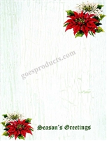 Seasons Greetings with Poinsettias