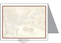 Currier & Ives - Country Winter Baronial Card