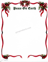Peace On Earth with Ribbon