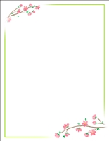#9703 Letterhead - Cherry Blossoms