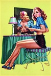 Curtain Call Pinup Poster