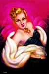 Ermine and Gold Pinup Poster