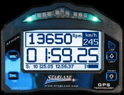 Athon XS  Tachometer - Shift Light - Track Mapping - Water Temp and Gear Inputs