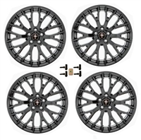 WHEEL KIT PERF PACK BLACK 19X9/9.5 MUSTANG 2015-17 - M-1007K-M19XB