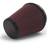Edelbrock Supercharger, universal, Air Filter, Replacement, Reusable, Conical, Cotton Gauze, Red, 7.0 in., AIR FILTER PN-15403