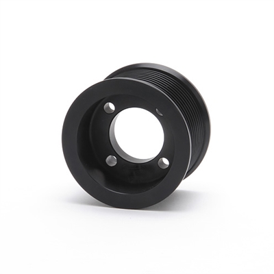 Pulley 4-inch 10-Rib Pulley for use with Enforcer - Black Finish - 15846 Edelbrock Supercharger