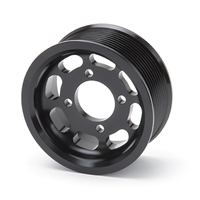 Pulley 3.875-inch 10-Rib Pulley for use with Enforcer - Black Finish - 15847 Edelbrock Supercharger