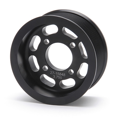 Pulley 3.75-inch 10-Rib Pulley for use with Enforcer - Black Finish - 15848 Edelbrock Supercharger