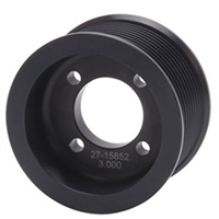 3-IN PULLEY ENFORCER SUPERCHARGER BLK (15852)