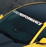 MUSTANG FORD PERFORMANCE  WINDSHIELD BANNER