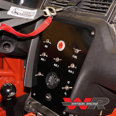 Road Race Center Stack Gauge/Switch Panel