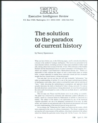 The solution to the paradox of current history