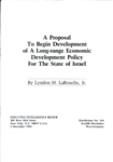 A Proposal To Begin Development of A Long-range Economic Development Policy For The State of Israel
