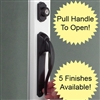 Storm Door Handle Lucite Push Button Black Handle Set