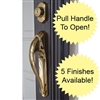 Storm Door Handle Lucite Push Button Black Handle Set