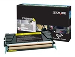 Lexmark C748H1YG Yellow C748de, 748dte, 748e Toner Cartridge High Yield 10K LCCP, LRP