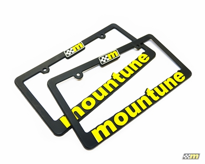 mountune Racing Flag Logo License Plate Frame set