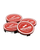 fifteen52 Super Touring Center Cap Set - Red/Chrome