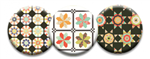 Quilt Dot Magnets: Country Fair Trio w/ Bag Tag