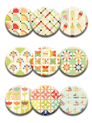 Quilt Dot Magnets: Ferris Wheel Collection w/ Bag Tag