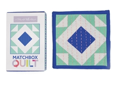 Matchbox Quilt: Aqua & Royal Blue